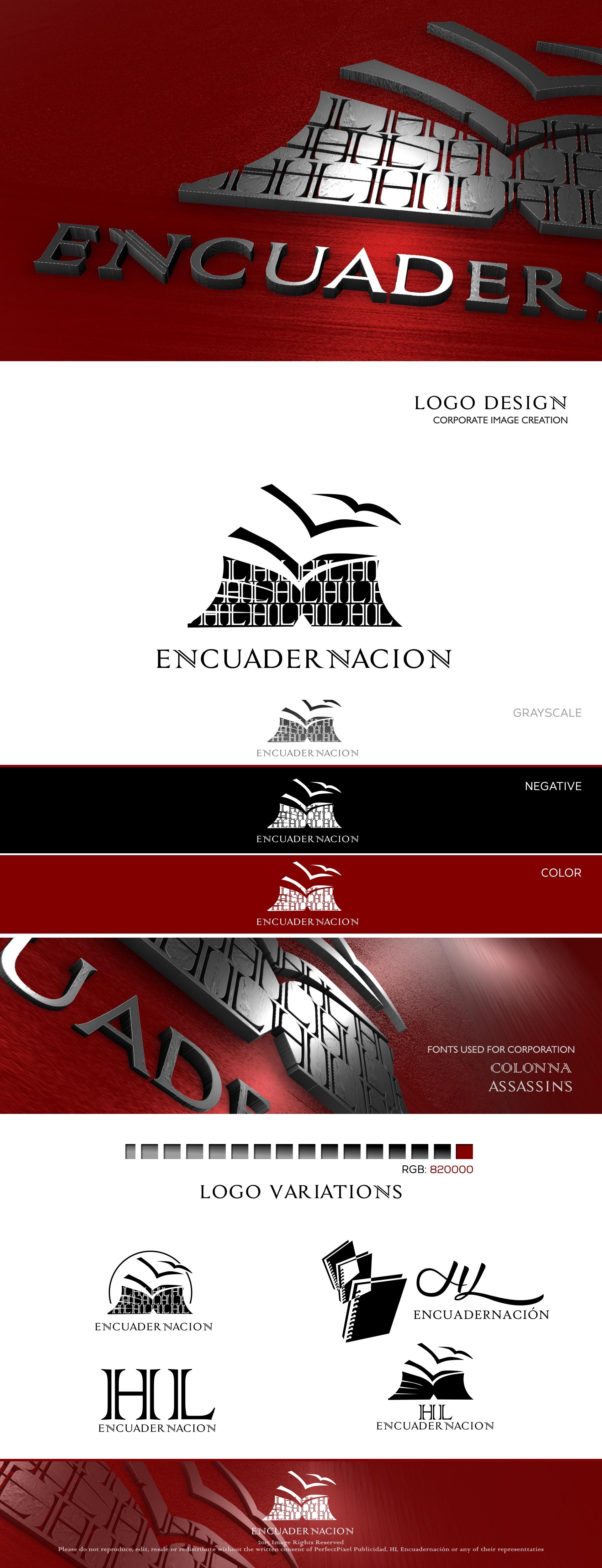 HL Encuadernación Logo and Corporate Identity Design