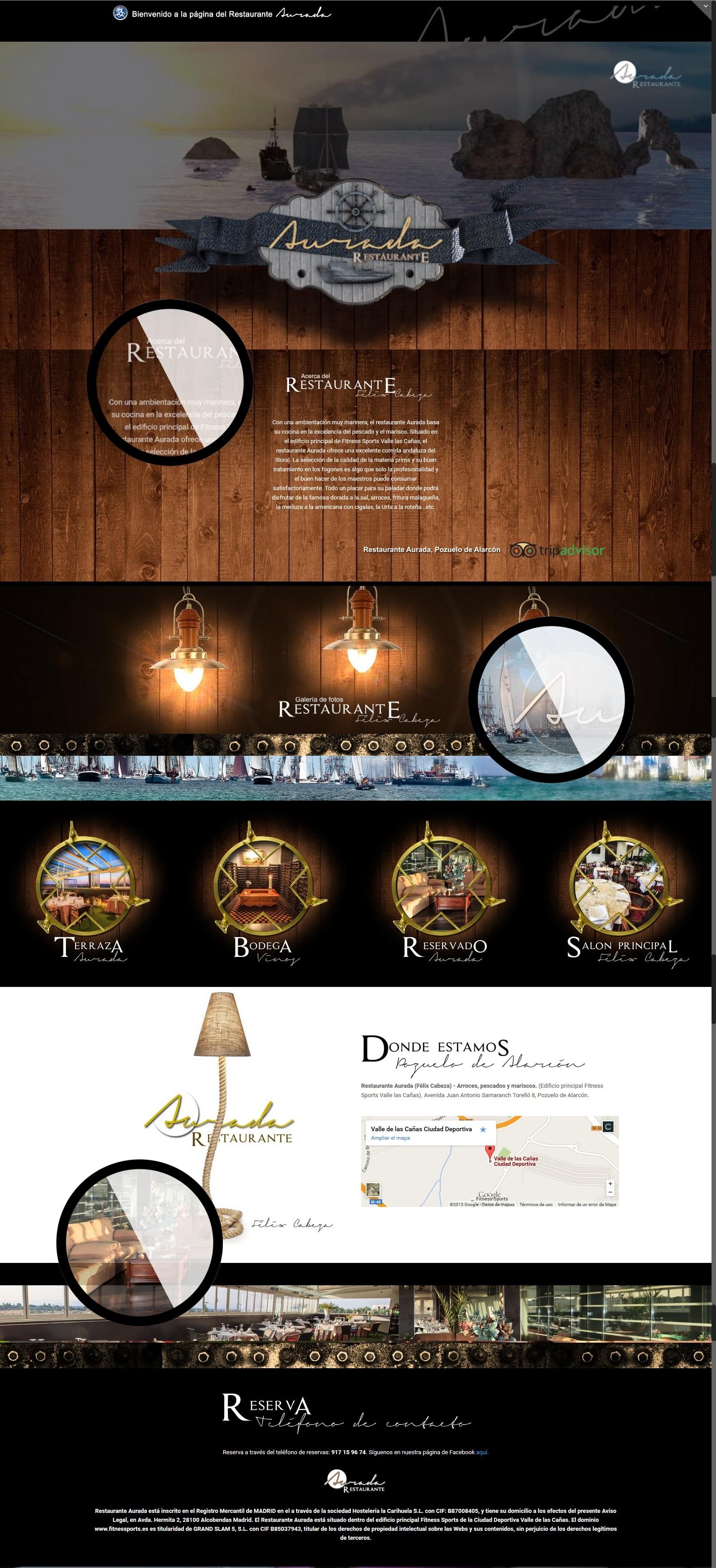 Aurada Restaurante Diseño Web por PerfectPixel Publicidad